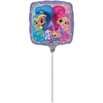 "9"" ""Shimmer & Shine"" Foil Balloon Square, A20, airfilled, 23 cm"