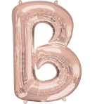 "SuperShape Letter ""B - Rose Gold"" Foil Balloon, P50, packed, 58 x 86cm"
