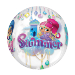 "Orbz ""Shimmer & Shine"" Foil Balloon Clear, G40, packed, 38 x 40cm"
