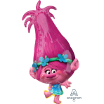 "SuperShape ""Trolls Poppy"" Foil Balloon  , P38, packed, 38 x 78cm"
