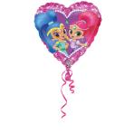 """Standard """"Shimmer & Shine Love"""" Foil Balloon Heart, S60, packed, 43 cm"""