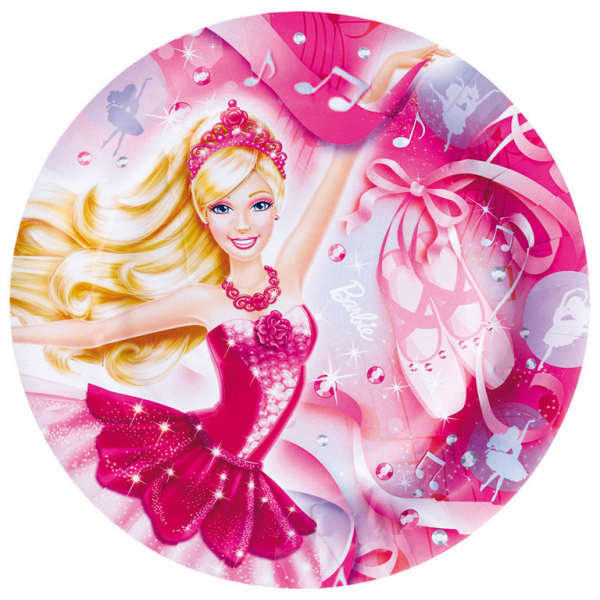 8 Plates Barbie Pink Shoes 23 Cm Amscan Europe