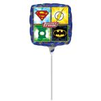 """9""""Justice League Foil Balloon Square, A20, bulk, 23 cm"""