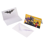 8 invitations & envelopes Lego Batmann