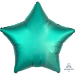 "Standard ""Satin Luxe Jade"" Foil Balloon Star, S15, packed, 43cm"