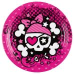 8 Plates Pirate Girl 23 cm