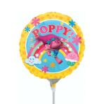 """9"""" """"Trolls"""" Foil Balloon Round, A20, airfilled, 23 cm"""
