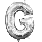 MiniShape Letter G Silver Foil Balloon L16 Packaged 22cm x 33cm