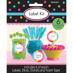 6 Label Kits Multicolour