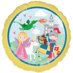 """Standard """"Princess & Knight"""" Foil Balloon Round, S40, packed, 43 cm"""