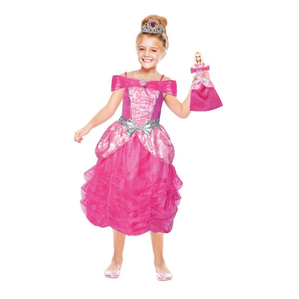 Girls Costume Barbie Heart Princess Mini Me 3 5 Years Amscan