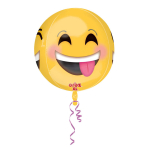 Orbz winking Emoticon Foil Balloon, G20, packed, 38x40 cm