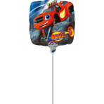 "9"" ""Blaze and the Monster Machines"" Foil Balloon Square, A20, airfilled, 23cm"