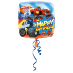 "Standard ""Blaze - Happy Birthday"" Foil Balloon Square, S60, packed, 43cm"