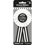 Award Ribbon Chalkboard Birthday Fabric / Paper 7.9 x 14.6 c