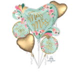 Bouquet MINT TO BE Foil Balloon P75 packaged