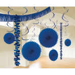 Decoration Kit Bright Royal Blue Paper / Foil 18 Parts 274 cm / 213 cm / 20.3 - 55.8 cm