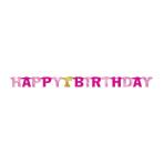 Letter Banner 1st Birthday Pink 213cm Foil