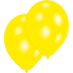 10 Latex Balloons Standard Yellow 27.5 cm / 11""
