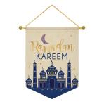 Hanging Sign Eid Ramadan Kareem Fabric 27.9 x 38.1 cm