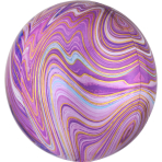 Marblez Purple Foil Balloon G20 packaged