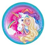 8 Plates Barbie - Dreamtopia Round Papier 23 cm