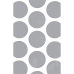 10 Paper Treat Bags Polka Dot Silver 11.3 x 17.7 cm