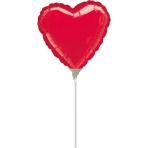 9'' Red Heart Foil Balloon A10 Air Filled, 23cm