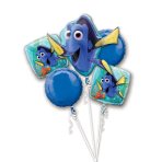 "Bouquet ""Finding Dory"" 5 Foil Balloons P75 packed"