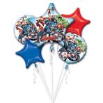 "Bouquet ""Avengers"" 5 Foil Balloons, P75, packed"