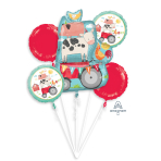 Bouquet Barnyard Birthday Foil Balloons P75 Packaged