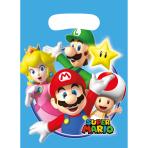 8 Party Bags Super Mario Plastic 23.4 x 16.2 cm