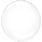 Clearz Petite Crystal Clear Foil Balloon S15 Packaged