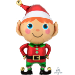 SuperShape Happy Christmas Elf Foil Balloon P35 Packaged 55cm x 88cm