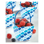 24 Treat Cups with handle Paper Minis blue 6,3 x 6,3 x 6,3 cm