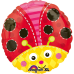 Standard Cute Ladybug Foil Balloon S40 Packaged