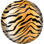 Orbz Tiger Print Foil Balloon G20 Packaged