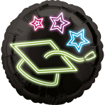 Standard Neon Grad Foil Balloon S40 packaged