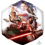 SuperShape Star Wars Episode IX Rise of Skywalker Foil Balloon P38 packaged 55 cm x 58 cm