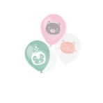"6 Latex Balloons Hello Pets 22.8 cm/9"""