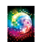 Tablecover Disco Fever 70's Plastic 137 x 243 cm