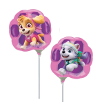 "Mini Shape ""Paw Patrol Skye & Everest"" Foil Balloon, A30, airfilled"