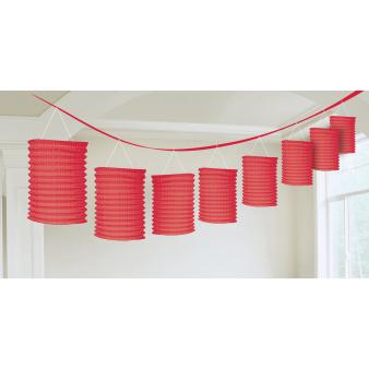 Lantern Garland Apple Red Paper 365 cm