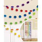 6 String Decorations Glitter Rainbow Foil 213 cm