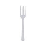 10 Forks Clear Plastic 15.7 cm