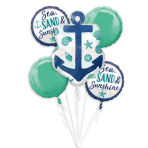 Bouquet Sea, Sand & Sun Foil Balloons P75 Packaged