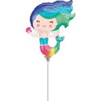 Mini Shape Happy Mermaid Foil Balloon A30 airfilled