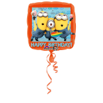 Standard Despicable Me Happy Birthday Foil Balloon S60 Packaged 43 cm