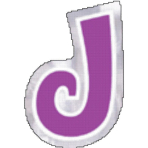 48 Stickers Letter J