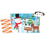 Game Pin the Nose to the Snowman Foil / Paper 10 Pieces 95.2 x 62.2 cm